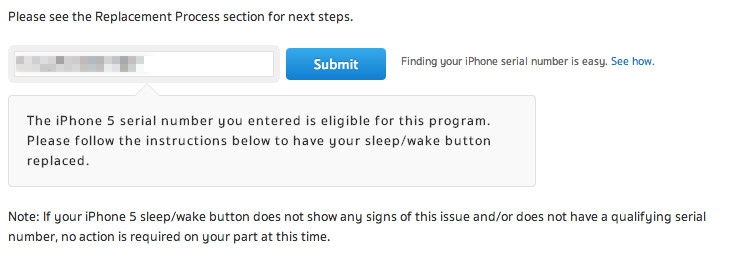 iPhone 5 sleep wake replace