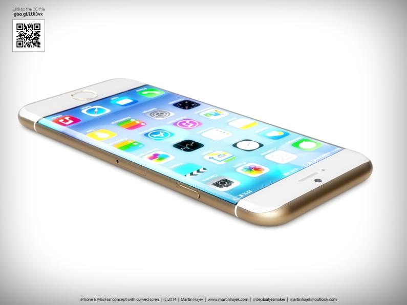 Concept Design iPhone 6 ล่าสุด มาพร้อมหน้าจอแบบแอบโค้ง