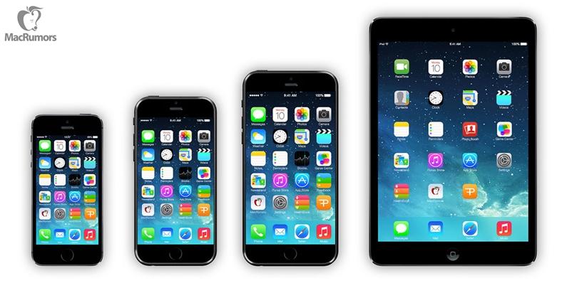เทียบไซส์ iPhone 6 กับ Samsung Galaxy S5 และสมาร์ทโฟนรุ่นอื่นๆ