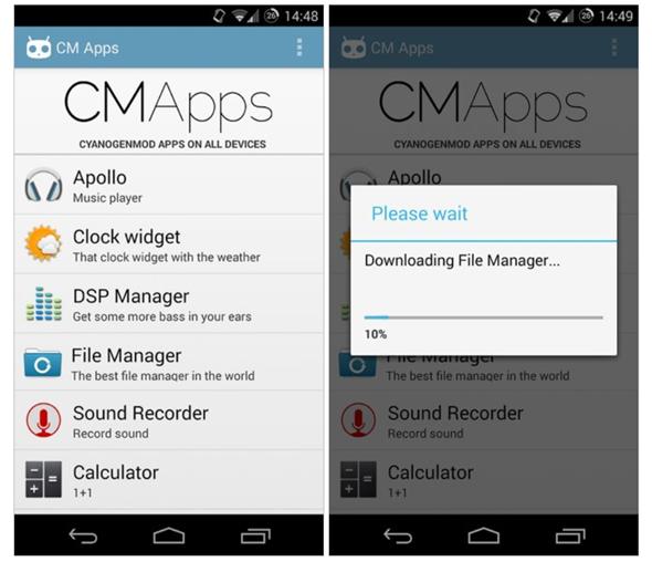 พบ CM Apps แหล่งรวมแอพจาก CyanogenMod ทุกตัวไว้ในแหล่งเดียว