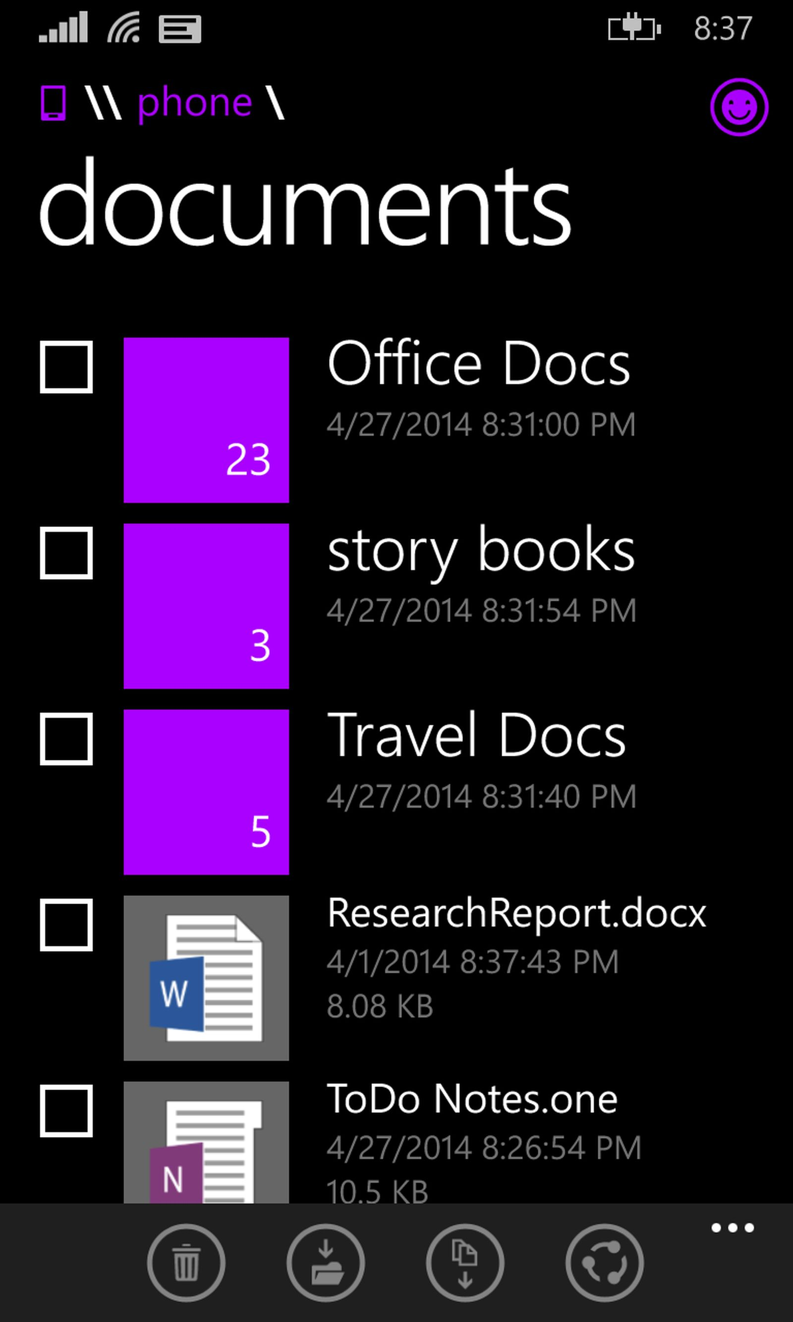 File-Manager-for-Windows-Phone