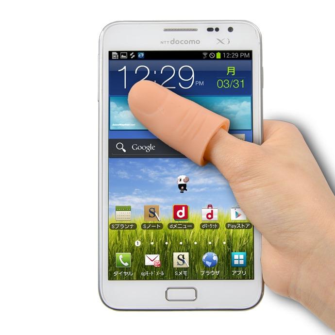 หมดปัญหาสมาร์ทโฟนจอใหญ่ คนญี่ปุ่นคิดค้นปลอกนิ้วขยายขนาดนิ้วโป้งให้เอื้อมถึงได้ง่ายขึ้น