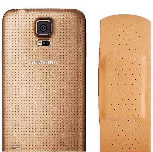 Galaxy S5 vs Plaster