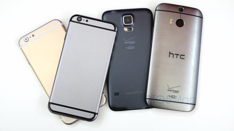 จัดเต็มคลิป iPhone 6 (Mockup) vs HTC One M8 vs Samsung Galaxy S5 vs iPhone 5s