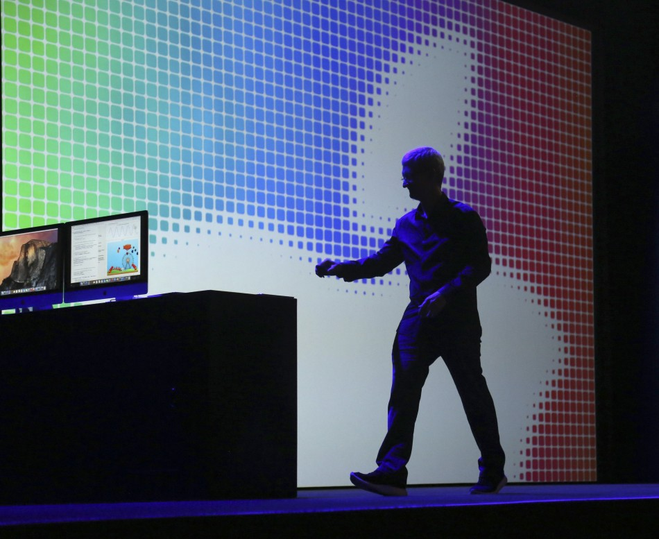 447269-apple-ceo-tim-cook-departs-the-stage-following-his-keynote-address-at-