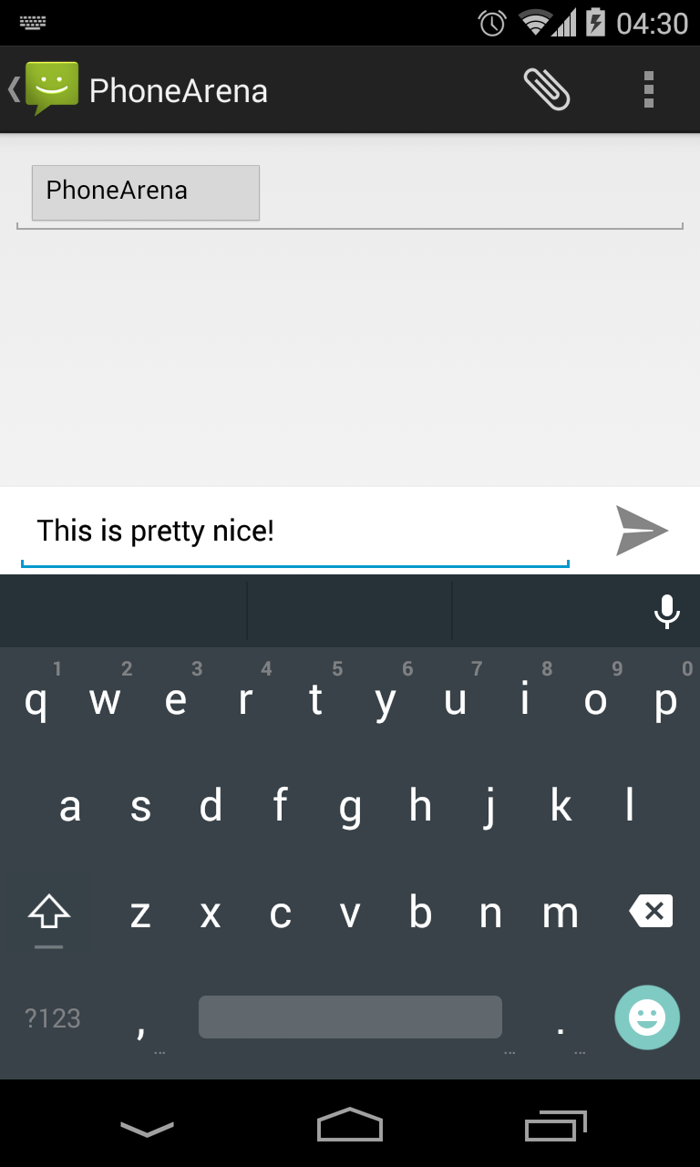 Android L keyboard Google Play 01