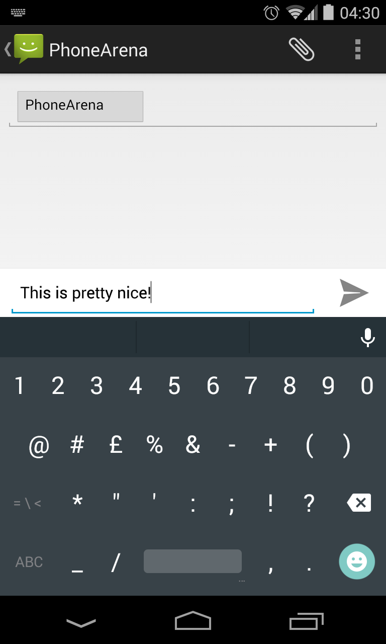 Android L keyboard Google Play 02