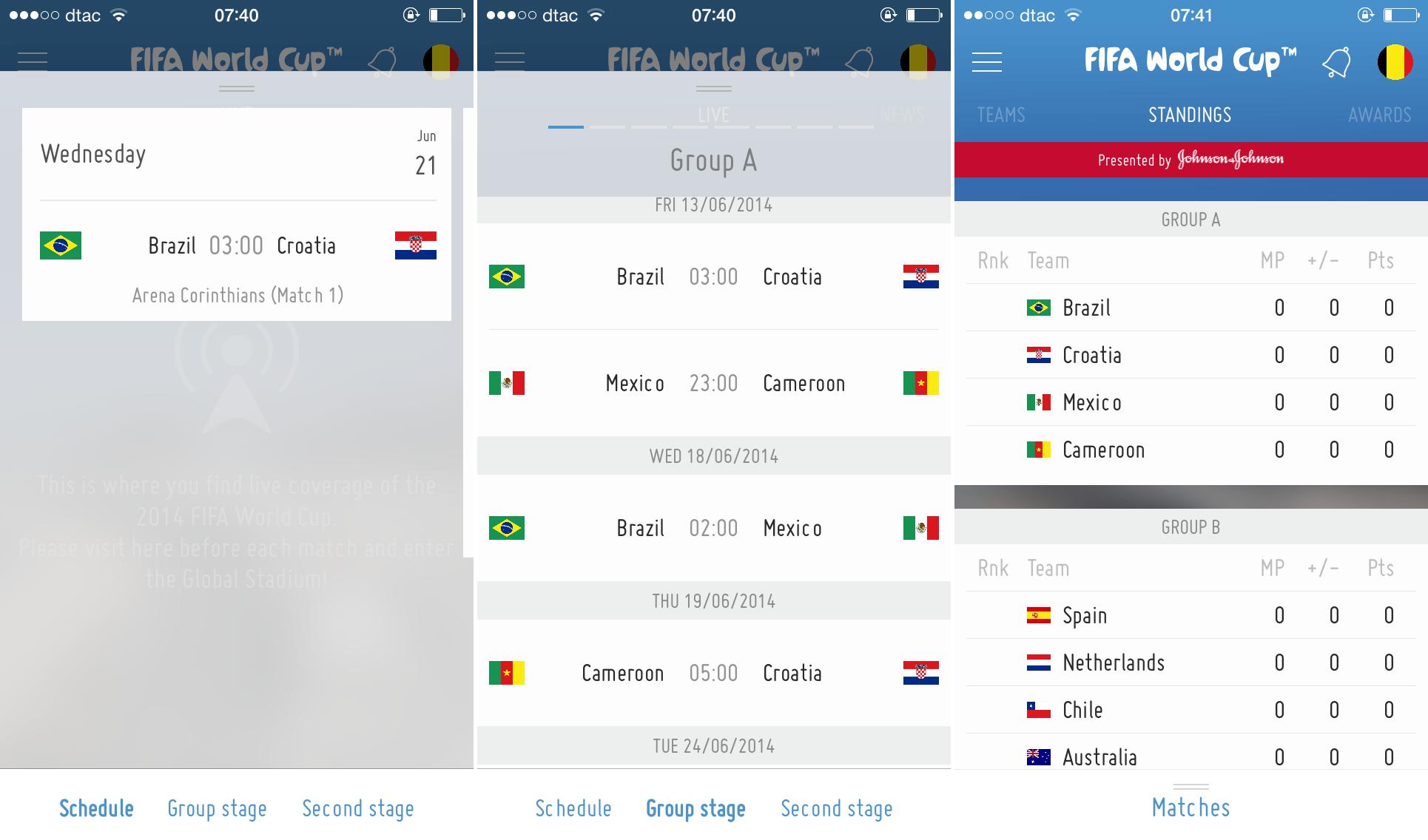 Fifa App Schedule