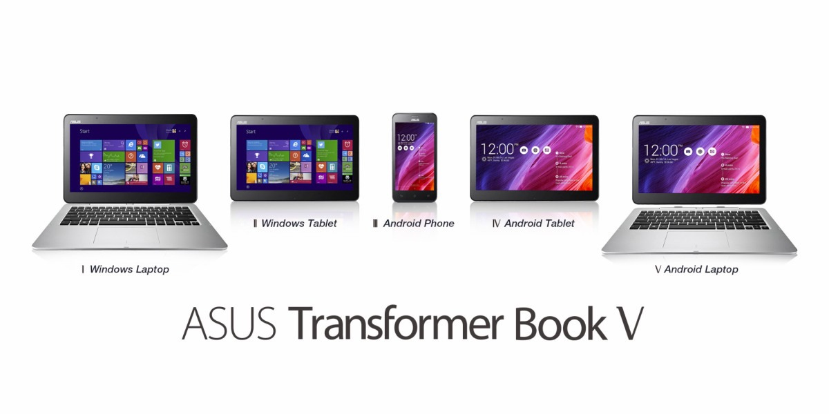 Asus เปิดตัว Transformer Book V, Fonepad และ MeMO Pad ใหม่ต้อนรับ Computex