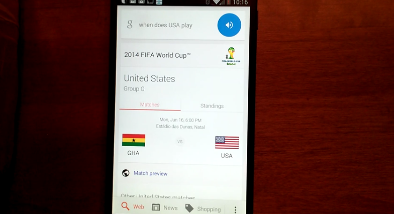 Google Now ก็เตรียมพร้อมรับ World Cup 2014 กับเขาเหมือนกัน