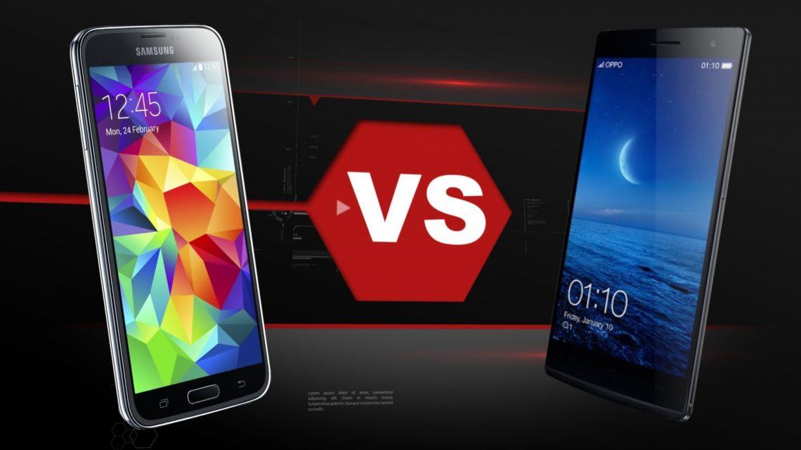 OPPO Find 7 VS Samsung Galaxy S5 การประชันหน้าระหว่างสมาร์ทโฟนแห่ง ปี? 2014