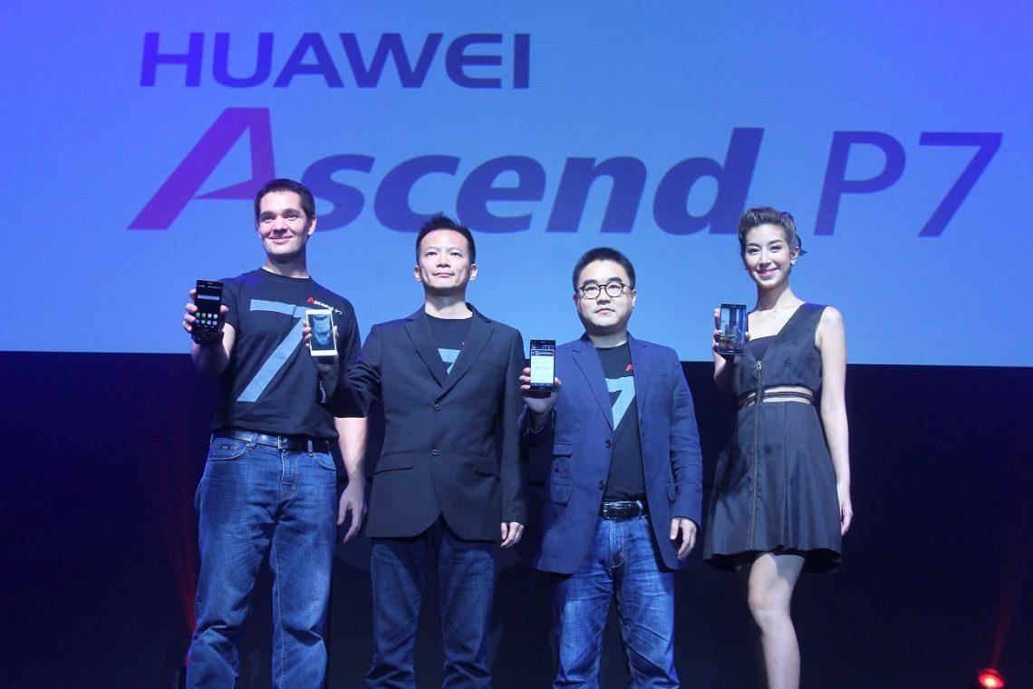 ?หัวเว่ย? เปิดตัวสมาร์ทโฟนรุ่นท็อป รองรับ 4G LTE รุ่นบางสุดในโลก ?Ascend P7? พุ่งเป้าเพิ่มสัดส่วนการตลาด พร้อมหนุนภาพลักษณ์แบรนด์