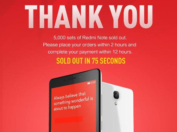นี่พี่ขายหรือแจกฟรีกันเนี่ย Xiaomi Redmi Note 5,000 เครื่องขายหมดใน 75 วินาทีที่สิงคโปร์