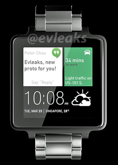หลุดภาพสมาร์ทวอทช์จาก HTC โดย @evleaks