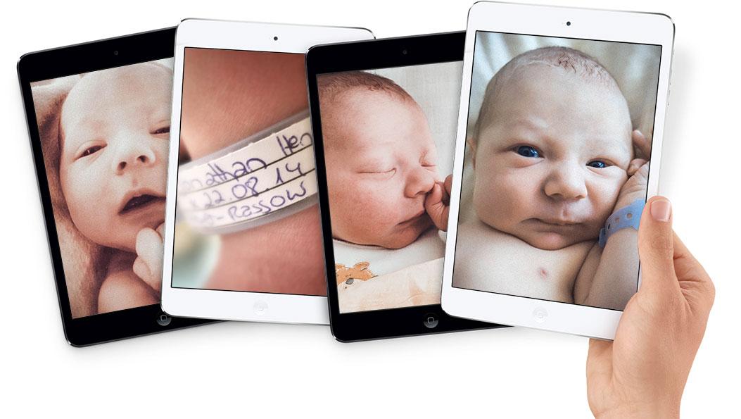 น่ารักอ่ะ^^ คุณอดีตพนักงาน Apple เปิดตัวลูกน้อย อย่างกะ iPad Mini