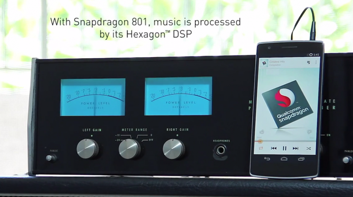 ชิปเซ็ต Snapdragon 801 บน OnePlus One สามารถเล่นเพลงต่อเนื่องได้ถึง 60 ชั่วโมง