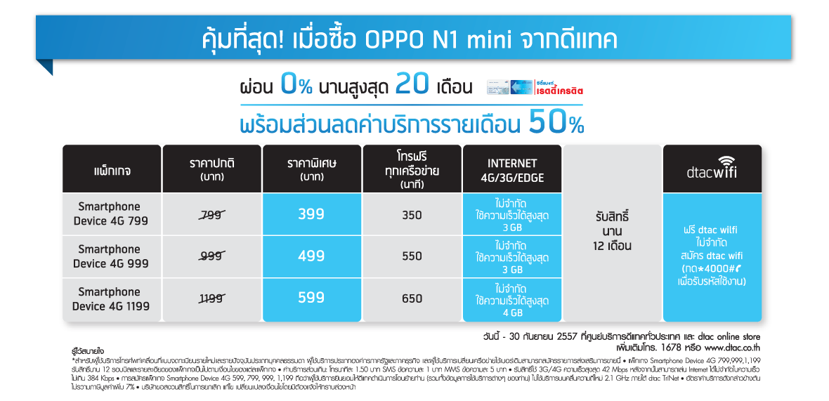 Promotion N1 Mini-crop Dtac