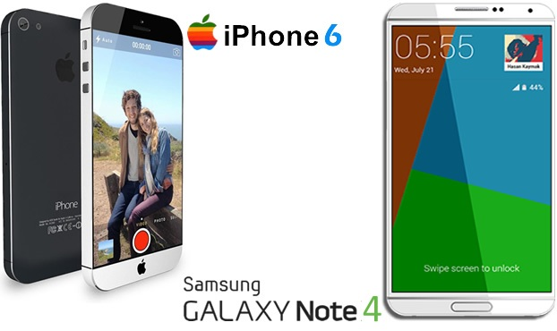 iPhone6 vs Samsung Galaxy Note4 specs display camera battery design software
