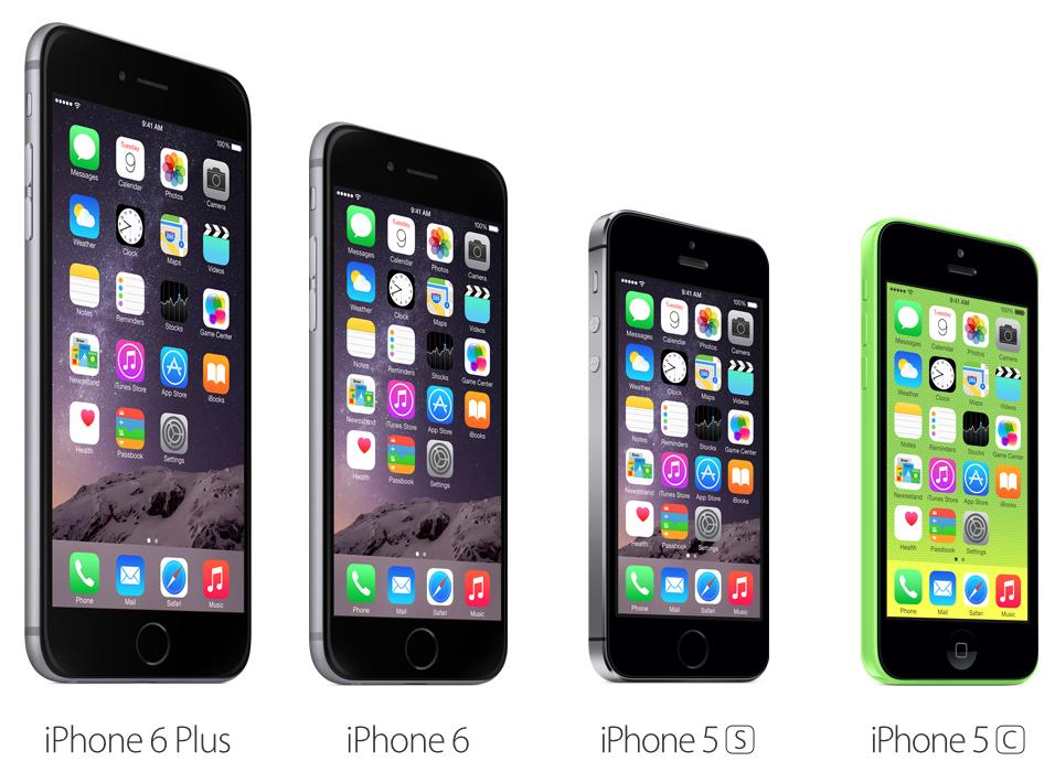 เทียบสเปค ราคา iPhone 6 กับ iPhone 6 Plus, iPhone 5s และ iPhone 5c