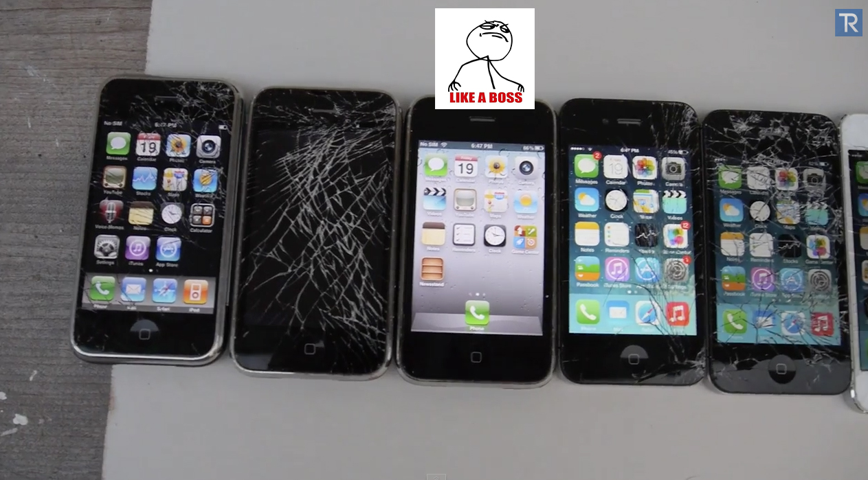 all of iphone droptest