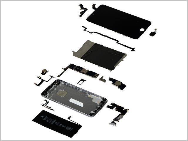 มาลองแยกชิ้นส่วน iPhone 6 ดูปรากฎว่าต้นทุนมันน่าจะแค่ 200 ดอลลาร์เท่านั้น