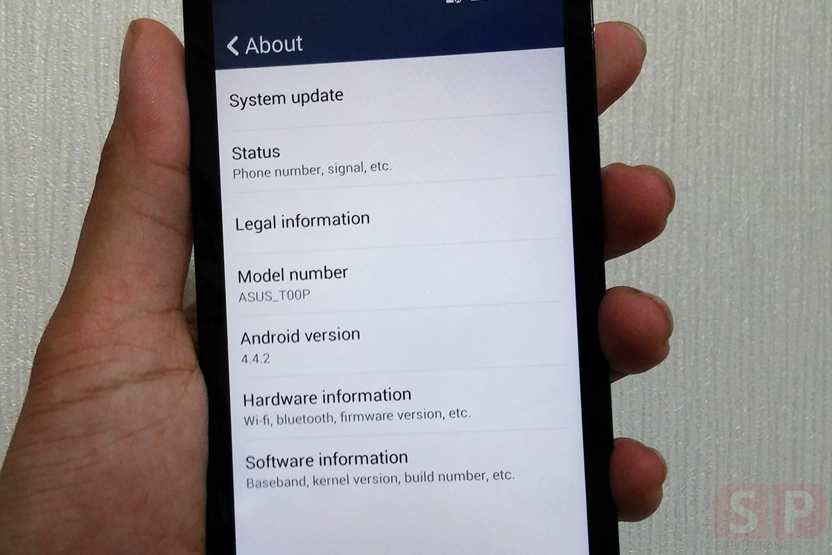 Asus Zenfone 5 LTE about Android 4.4.2