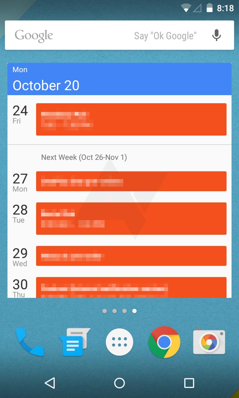 Calendar-widget