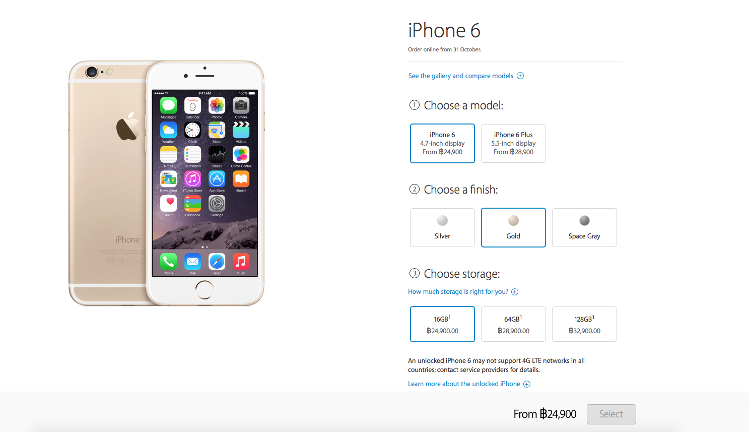 iPhone 6 Apple Online Store Price