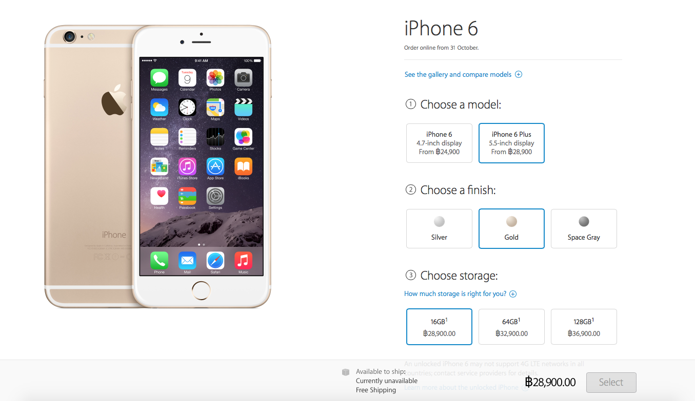iPhone 6 Plus Apple Online Store Price