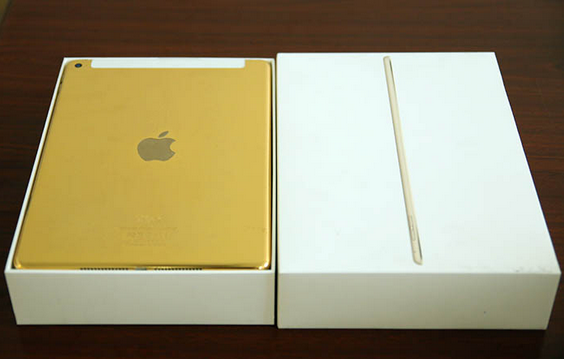 24K gold plated Apple iPad Air 2 is available from