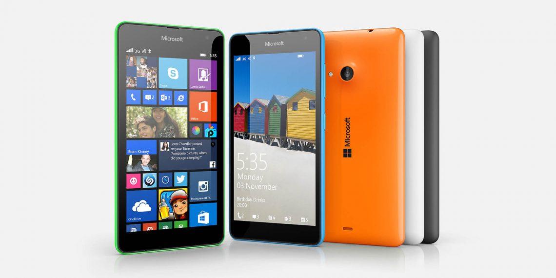 มาแล้ว!! เปิดตัว Microsoft Lumia 535 จอ 5 นิ้ว กล้องหน้า 5 ล้านพิกเซล ราคาประมาณ 4,400 บาท