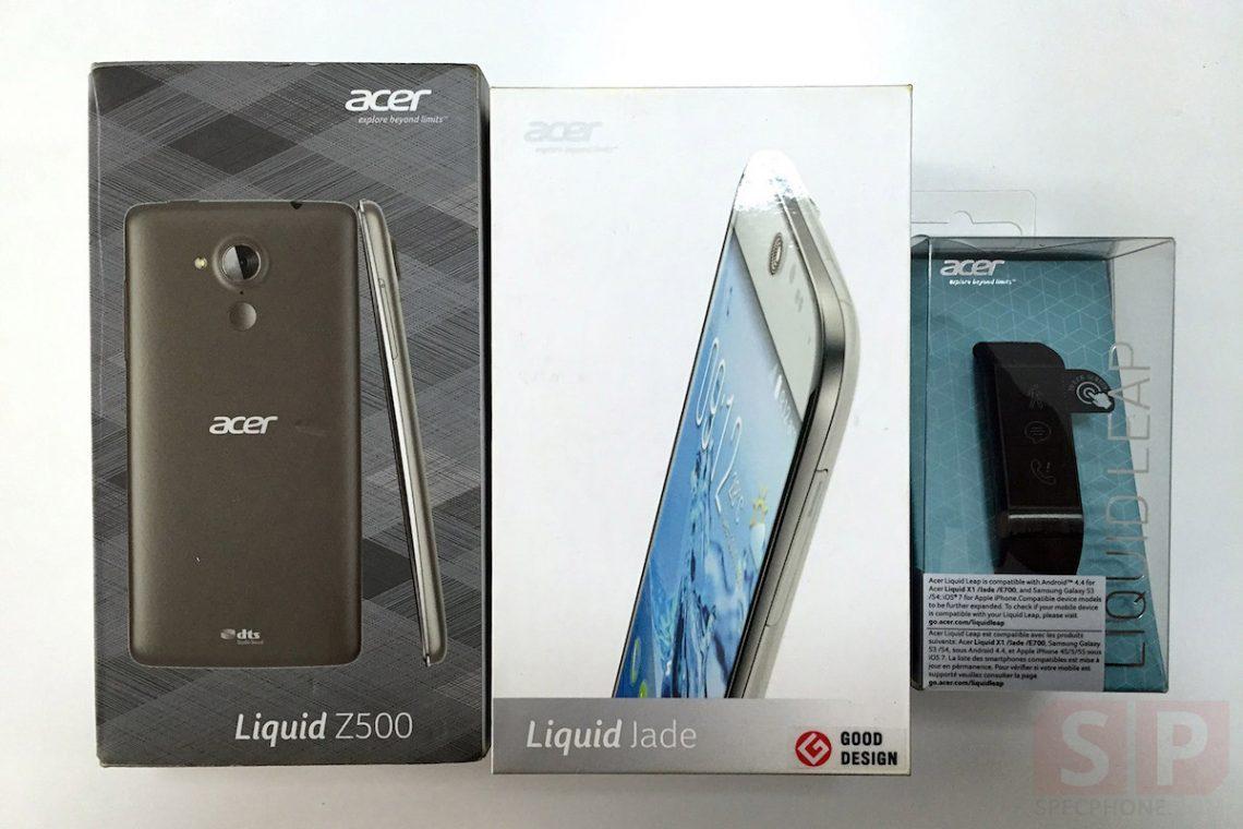 แกะกล่องลองจับ มือถือ Acer Liquid Jade และสายรัดเพื่อสุขภาพ Acer Liquid Leap