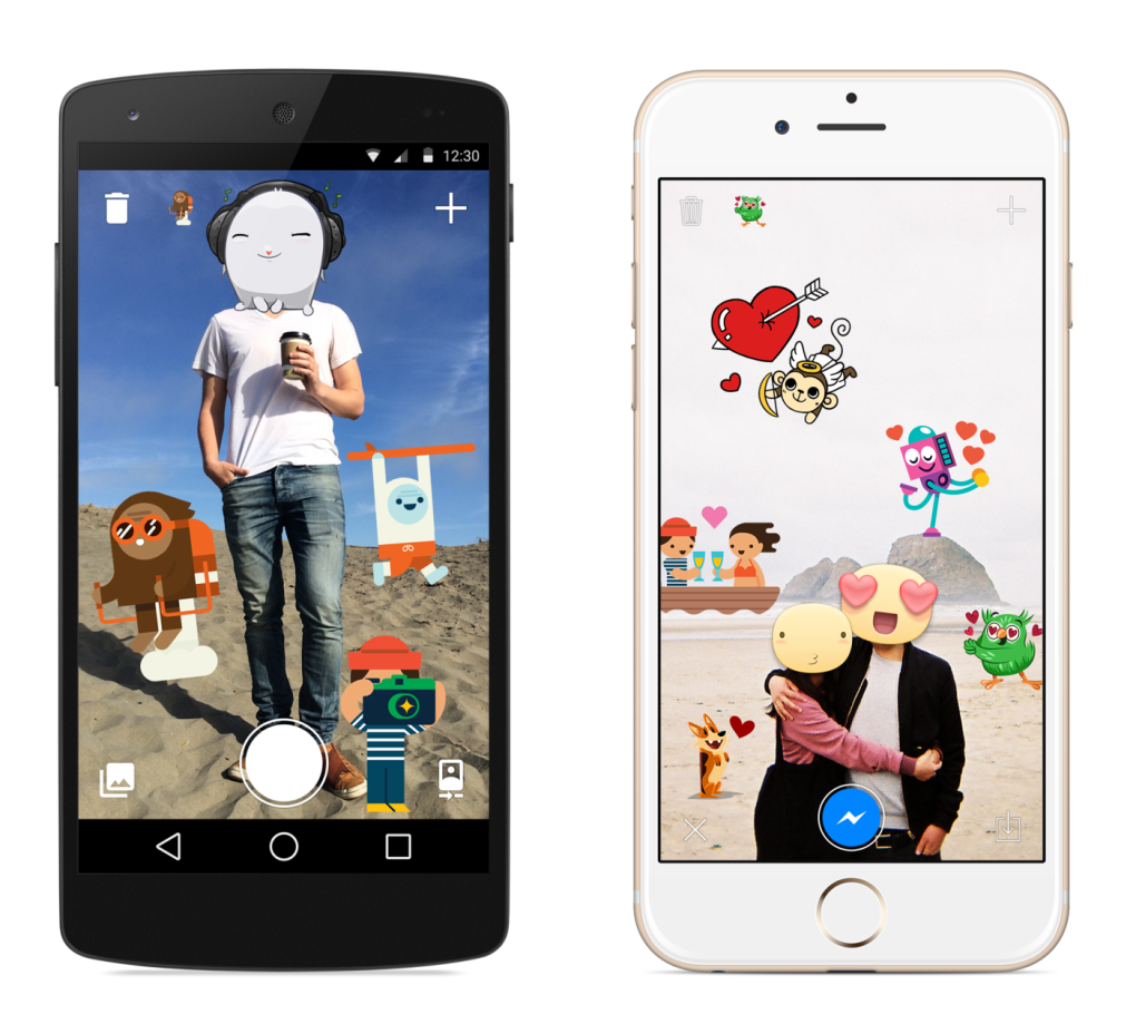 Facebook ปล่อยแอพใหม่ Stickered for Messenger ให้เอาสติกเกอร์มาแปะบนรูปได้ตามใจเรา