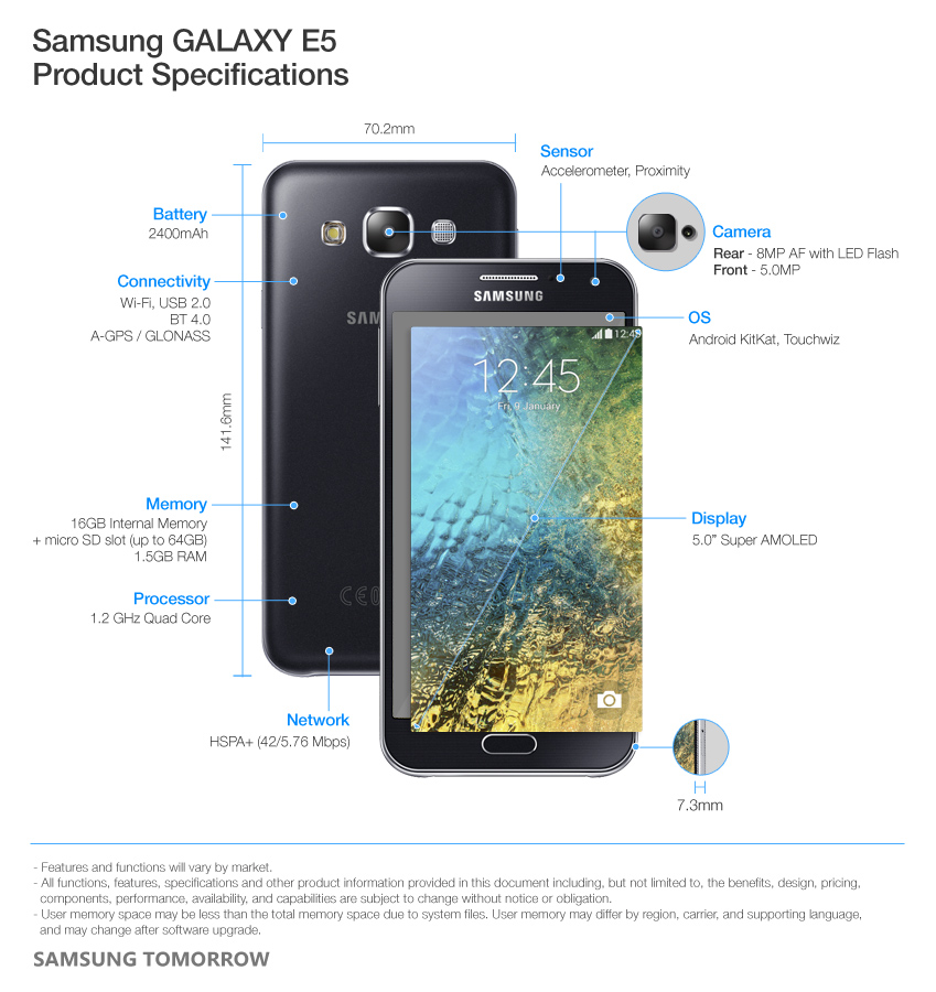 Samsung-GALAXY-E5-Product-Specifications