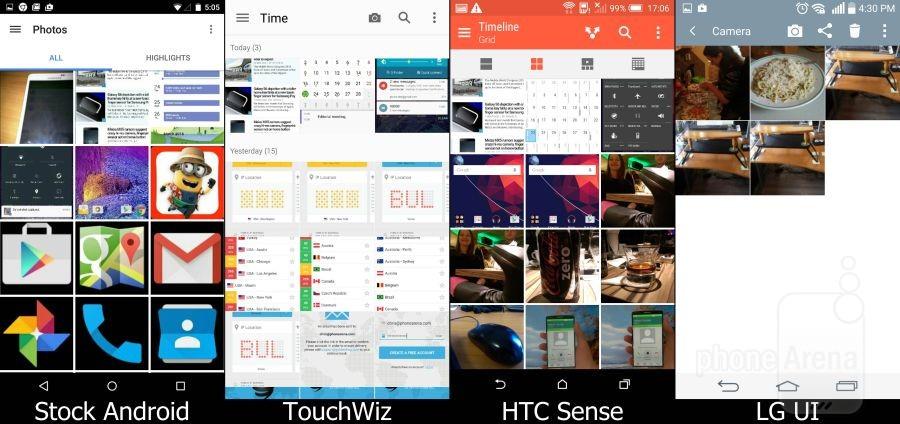 Stock Lollipop vs TouchWiz vs Sense vs LG UI 05