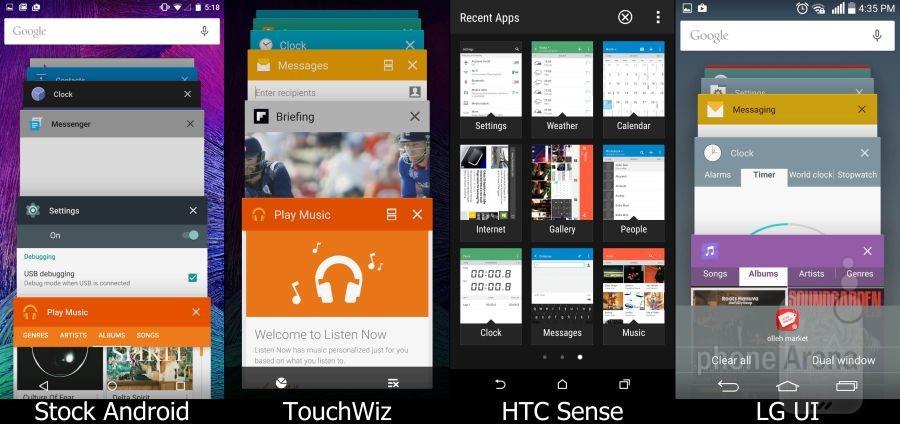 Stock Lollipop vs TouchWiz vs Sense vs LG UI 12