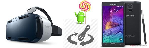 Samsung Galaxy Note 4 อาจจะได้รับ Lollipop ช้า เหตุเกิดเพราะ Gear VR