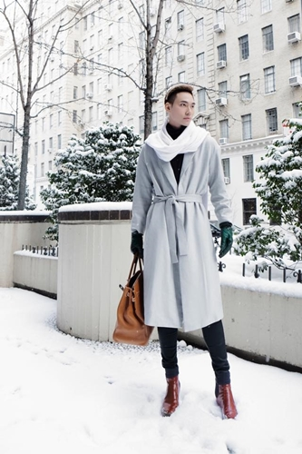 2. Fashion designer Ly Qui Khanh in New York