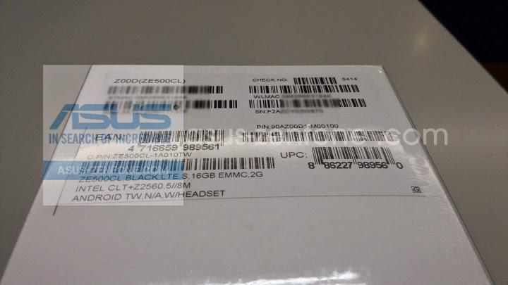 Unboxing Asus Zenfone 2 ZE500CL - 002