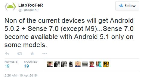 HTC เมิน Android 5.0.2 ข้ามไป Android 5.1 พร้อม Sense 7.0 เลยทันที