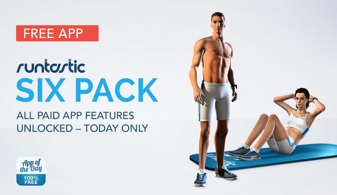 กล้ามท้องแน่นปึ๊ก!! Runtastic Six Pack Pro ราคา 170 บาทปล่อยให้ดาวโหลดฟรีทั้ง iOS และ Android