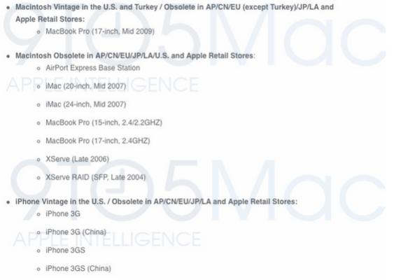 iPhone และ Mac รุ่นเก่าๆจะไม่ได้รับบริการจาก Apple แล้วนะ!!!