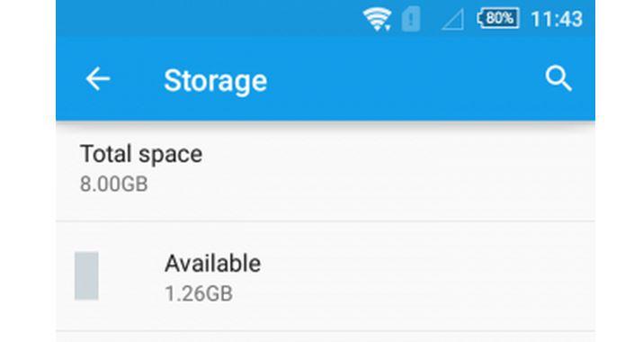 น้อยไป!!! Xperia M4 Aqua 8 GB เหลือพื้นที่ให้ใช้เพียง 1.26 GB