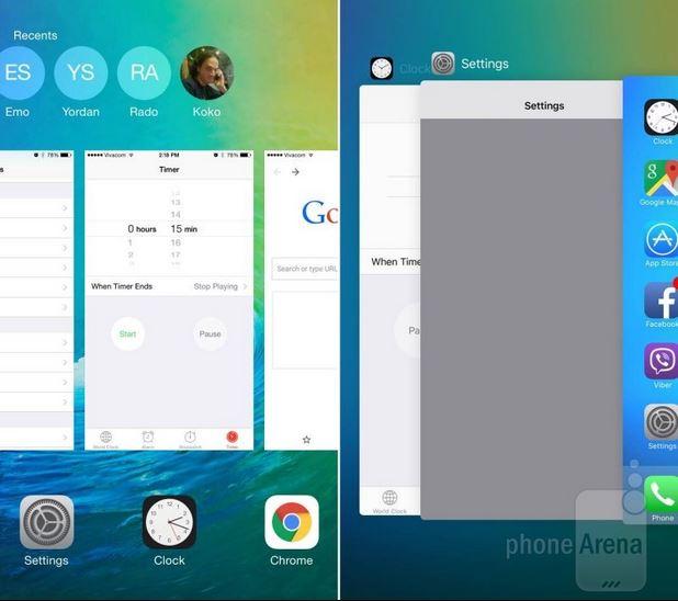 เปรียบเทียบหน้าตา iOS 8.3 vs iOS 9 กับ 19 สิ่งที่เปลี่ยนไป