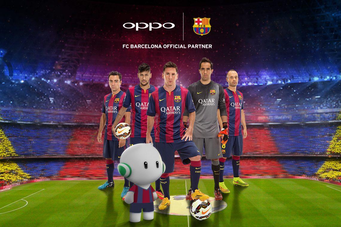 OPPO จัดหนักจับมือเป็นพาร์ทเนอร์กับ Barcelona