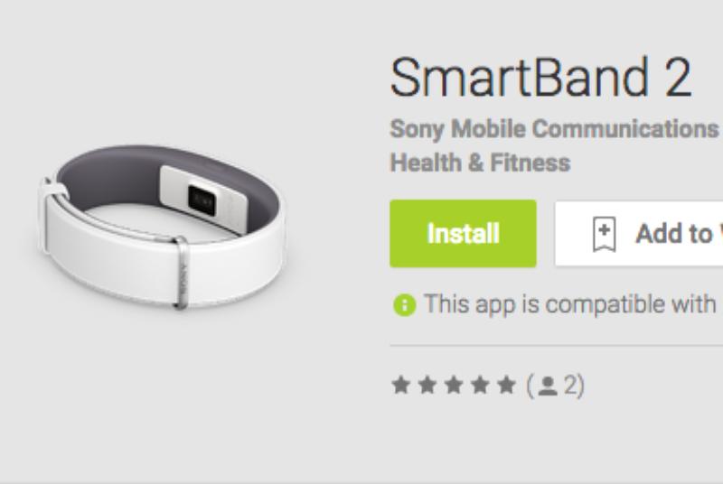 หลุด Sony SmartBand 2 รุ่นใหม่หลุดบน Google Play Store มาพร้อมเซนเซอร์ตรวจจับอัตราการเต้นของหัวใจ