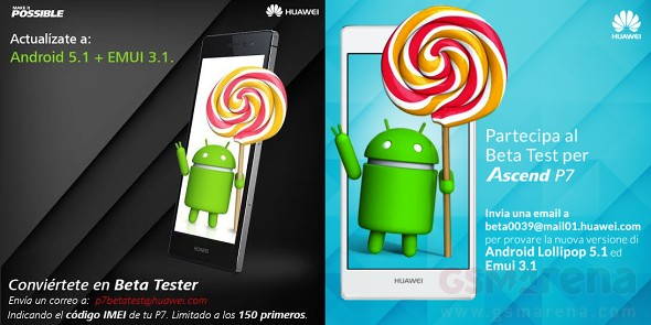 รอซักครู่!!! Huawei Ascend P7 กำลังจะได้อัพเดต Lollipop 5.1