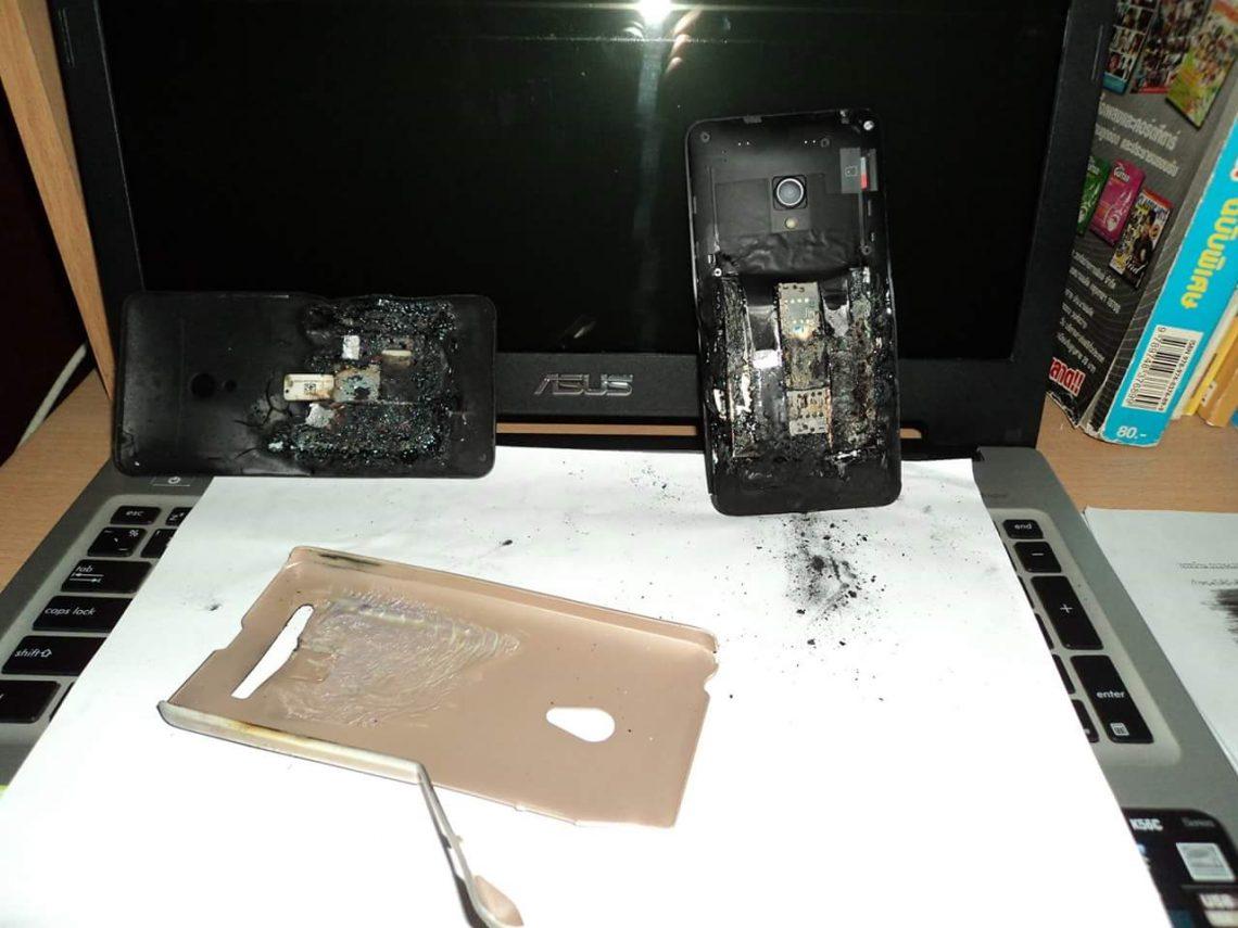 อุ่ย! Asus Zenfone 5 Lollipop ระเบิดขณะเสียบชาร์จ และยังไม่ทราบสาเหตุแน่ชัด