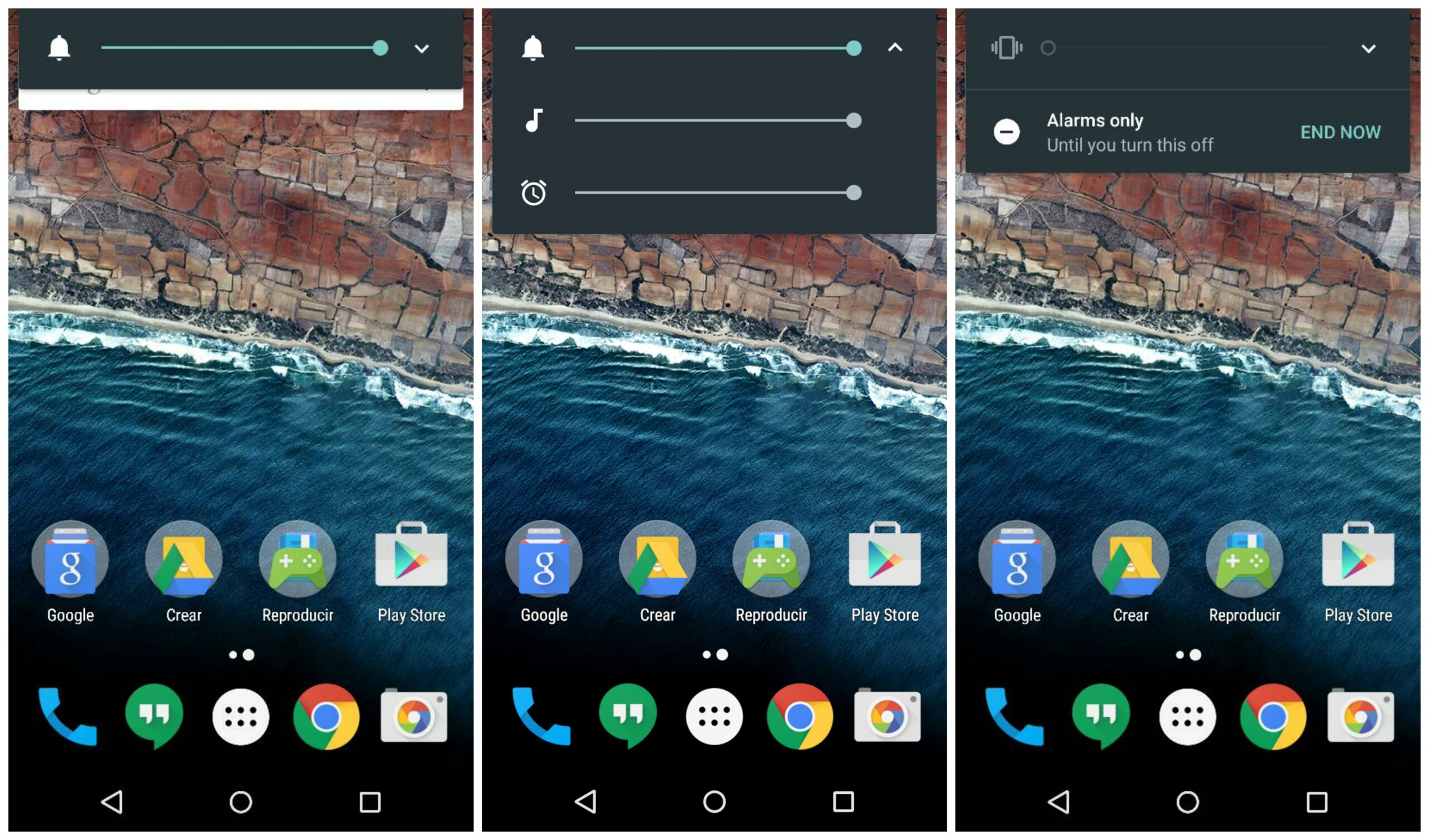 Android M sound controls scaled