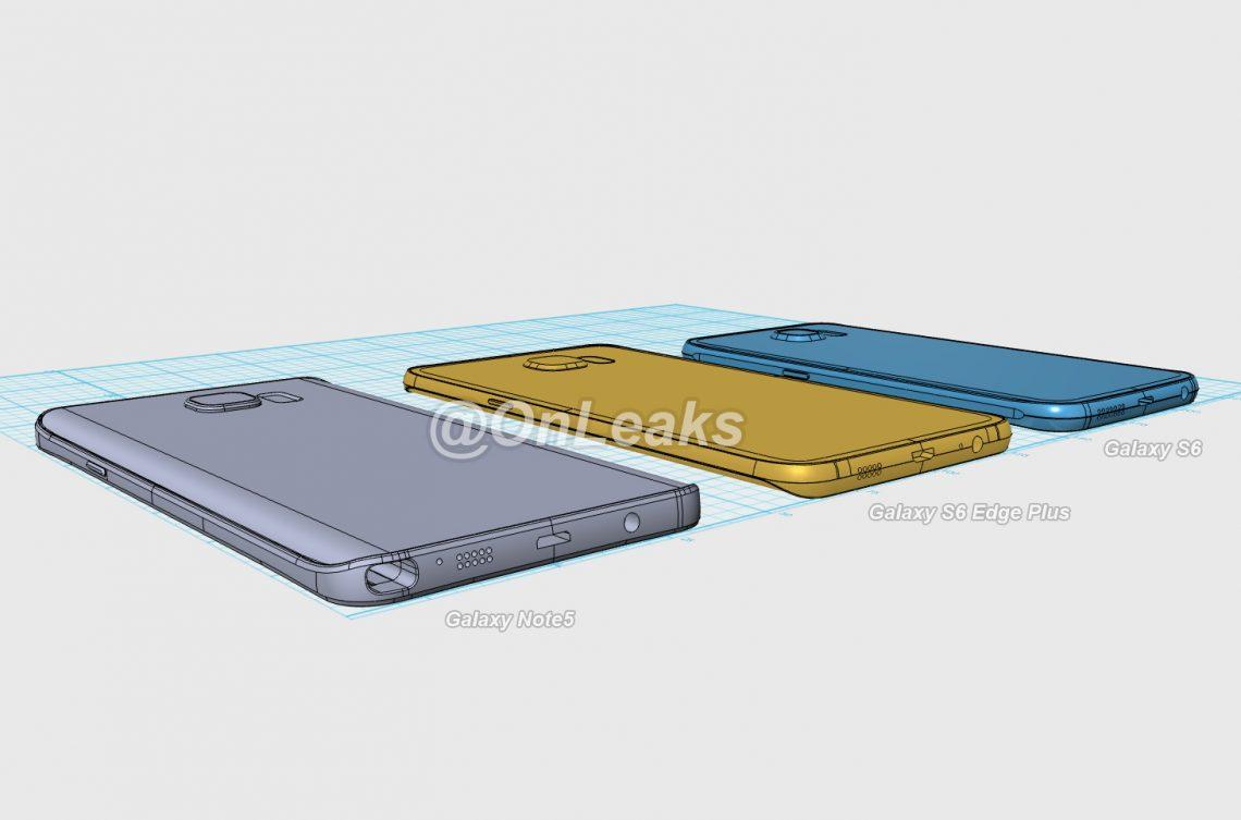 มาดูขนาดของ Samsung Galaxy Note 5 และ Galaxy S6 edge Plus เมื่อเอามาเทียบกับ Galaxy S6